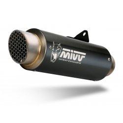 Silencieux MIVV GP PRO HONDA CB1000R 18-20 (Steel Black - Casquette Inox)