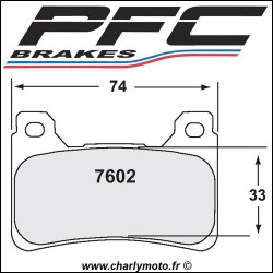 Plaquettes de frein PFC Carbone 7602 - TYPE 95 - ROUTE ET CIRCUIT