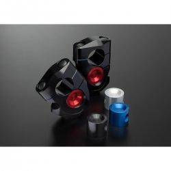 Pontets de rehausse réglable VARIO-Riser ABM VBK1 - M10 (Pour guidons 28,6mm - 22mm - 01 Pouce)