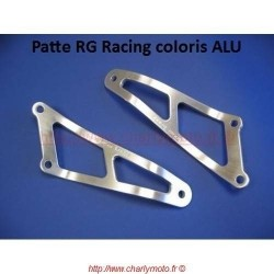 Patte de silencieux R&G RACING APRILIA RSV 1000 98-03 (Argent - 01 pot)