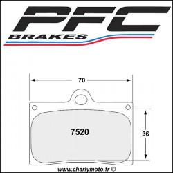 Plaquettes de frein PFC Carbone 7520 - TYPE 95 - ROUTE ET CIRCUIT