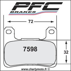Plaquettes de frein PFC Carbone 7598 - TYPE 95 - ROUTE ET CIRCUIT