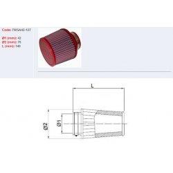 Filtre à air BMC - Cornet Ø42mm - hauteur 124mm (Conique centré) (FMSA42-127)