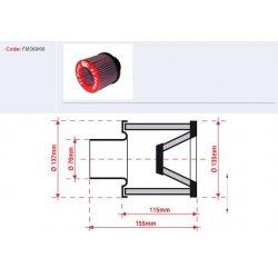 Filtre à air BMC - Cornet Ø76mm - hauteur 115mm (Conique centré) (FM369/08)