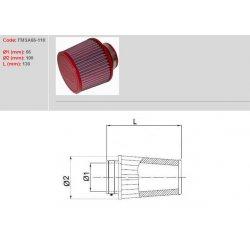Filtre à air BMC - Cornet Ø66mm - hauteur 110mm (Conique centré) (FMSA66-110)