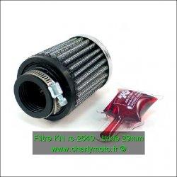 Filtre à air KN - Ø29mm - hauteur 64mm (RC-2540)