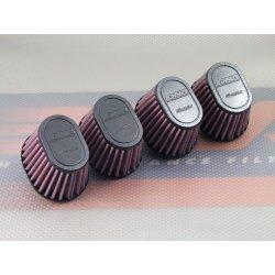 Filtre à air cornet DNA Ø38mm OVAL - hauteur 68mm (OV SERIES OV-3804 - Pack de 04 filtres)