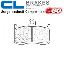 Plaquettes de frein CL BRAKES 1083C60 TRIUMPH STREET TRIPLE 675 R 09-17 / STREET TRIPLE 675 RX 15-17 (Avant)