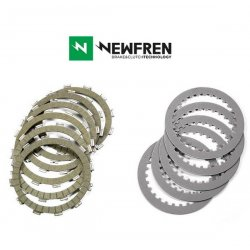 Disques garnis + lisses d'embrayage NEWFREN DUCATI DIAVEL 1200 10-17 (Racing)