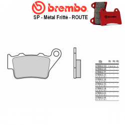Plaquettes de frein BREMBO 07BB0258 BMW F650 SC SCARVER - GS - RALLYE - GS DAKAR 01-07 (Arrière)