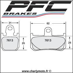 Plaquettes de frein PFC Carbone 7613 - TYPE 13 - COMPETITION