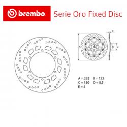 Disque de frein BREMBO Série ORO YAMAHA XT-E 600 95-03 (Avant - fixe - 68B407D0)