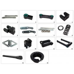 Kit de rabaissement de selle TECNIUM BMW R1200 GS Adventure 06-07 (-30mm)