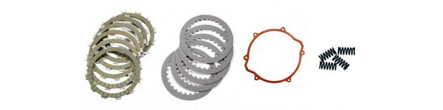 Embrayage : disques, ressorts et joints de carter